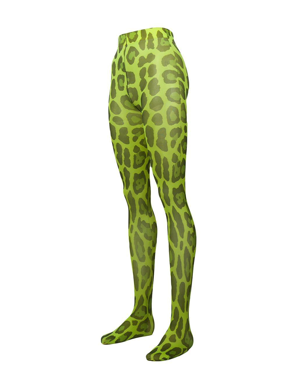 76ee60afaa714 Tom Ford Leopard-print Tights in Green - Lyst