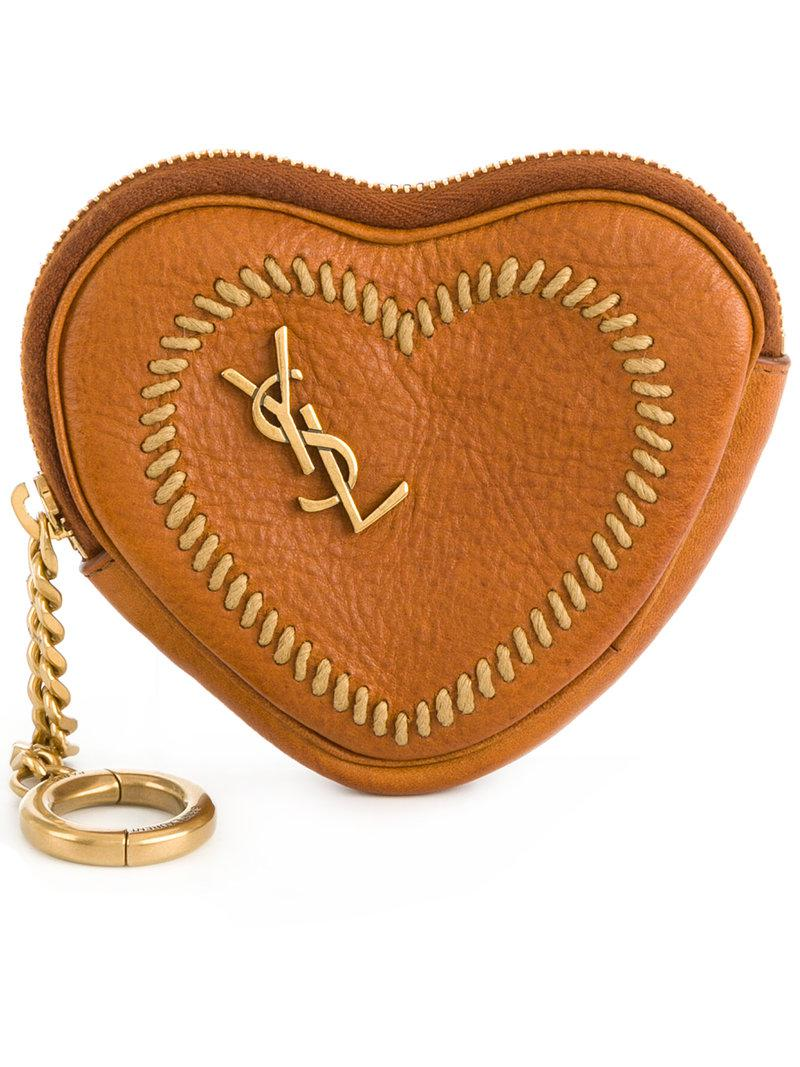 heart coin pouch - Metallic Saint Laurent azCmt