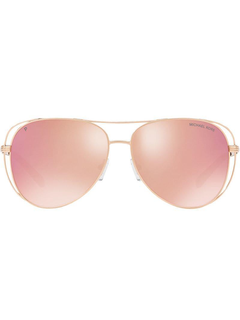 88395da460 Michael Kors - Multicolor Gafas de sol espejadas estilo aviador - Lyst. Ver  en pantalla completa