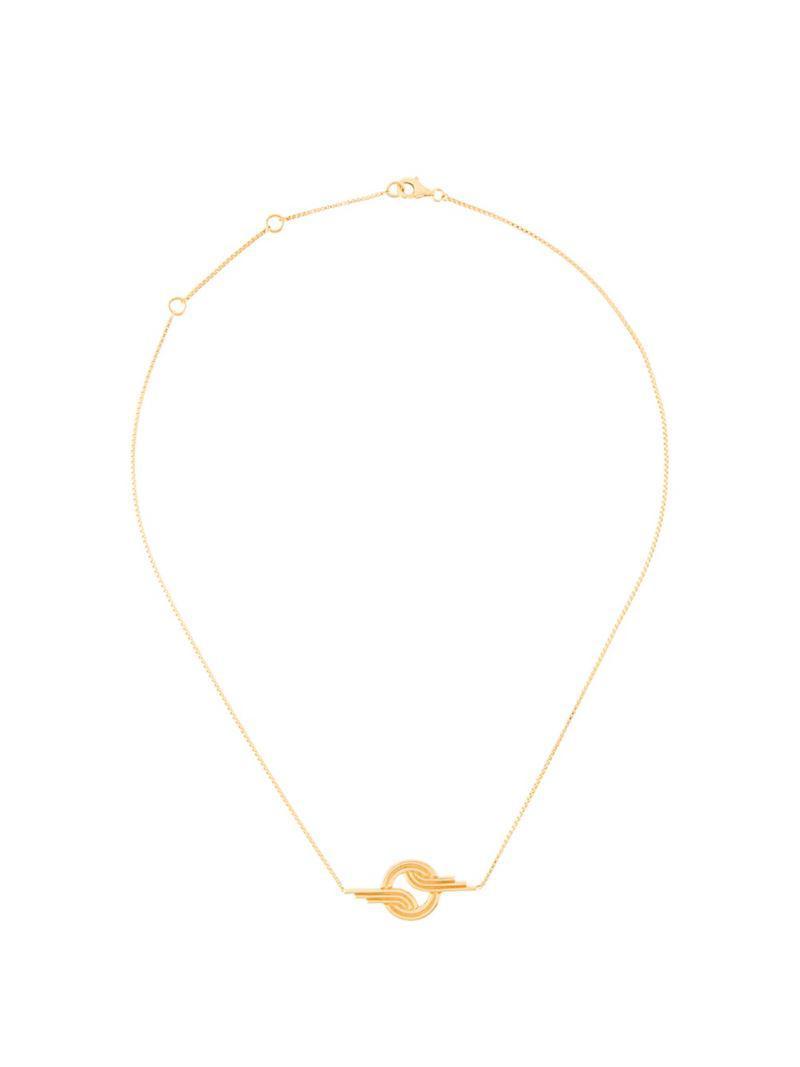 Lara Bohinc Stenmark Winged necklace - Metallic xOg2JW4rKi
