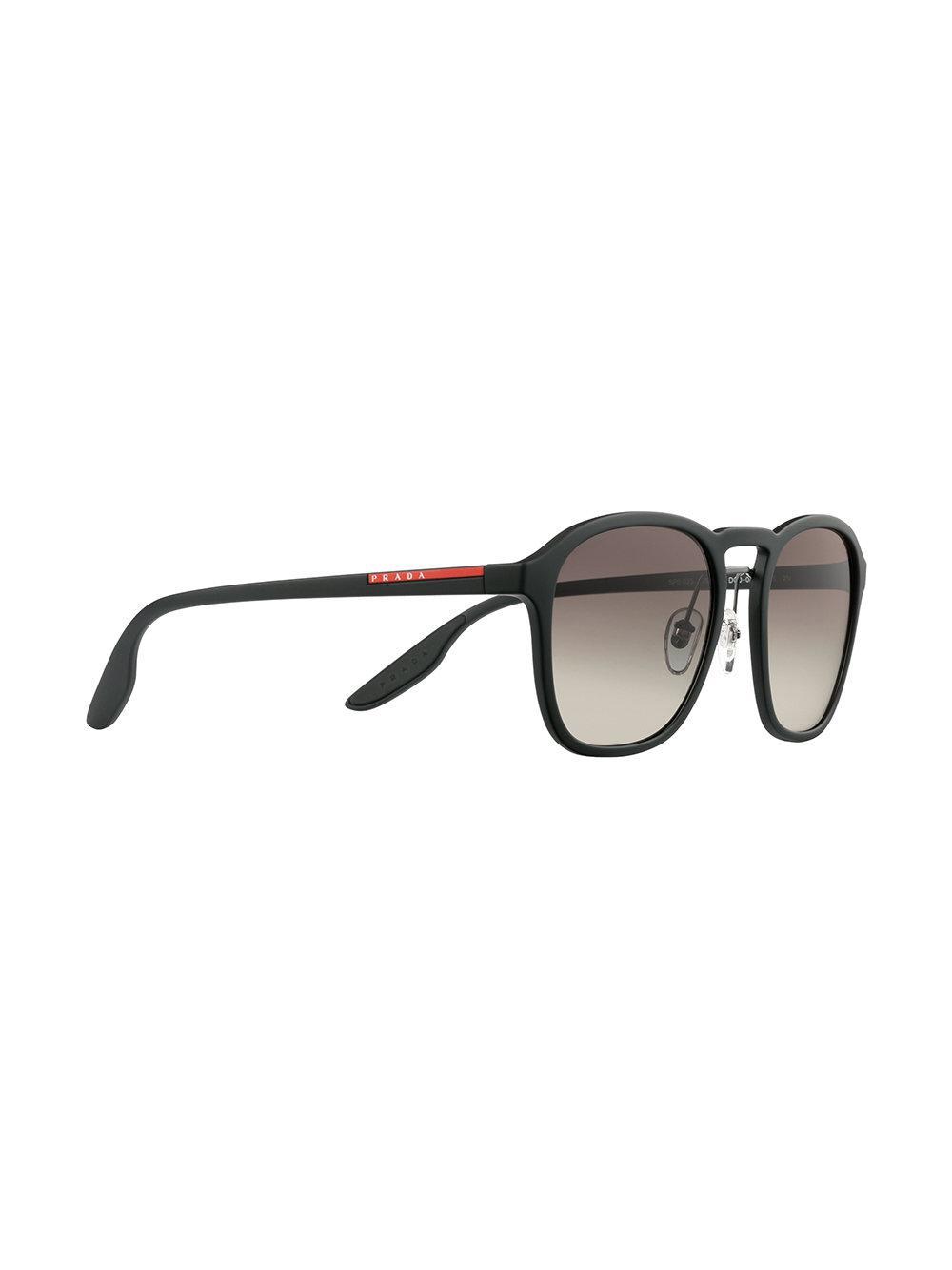 805d8d55227 Prada Linea Rossa Wayfarer Sunglasses in Black for Men - Lyst