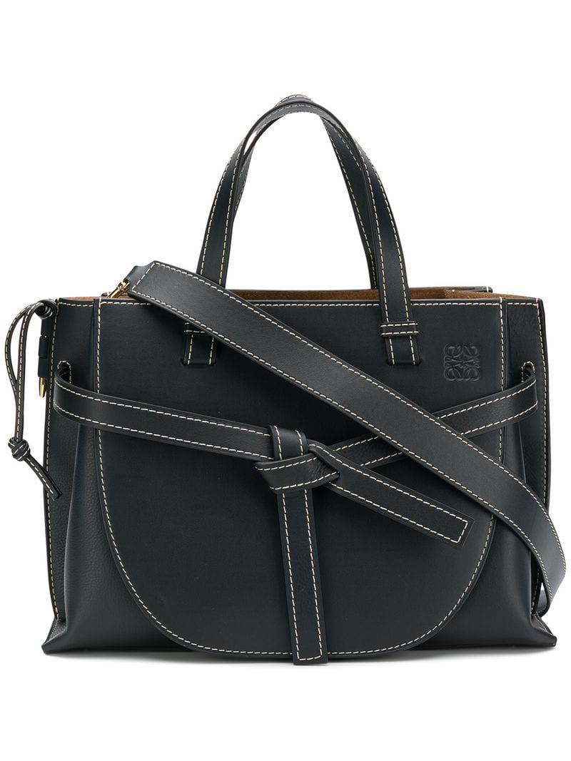 Loewe Gate Top Handle Bag in Blue - Save 6% - Lyst 5b4980be32dd9