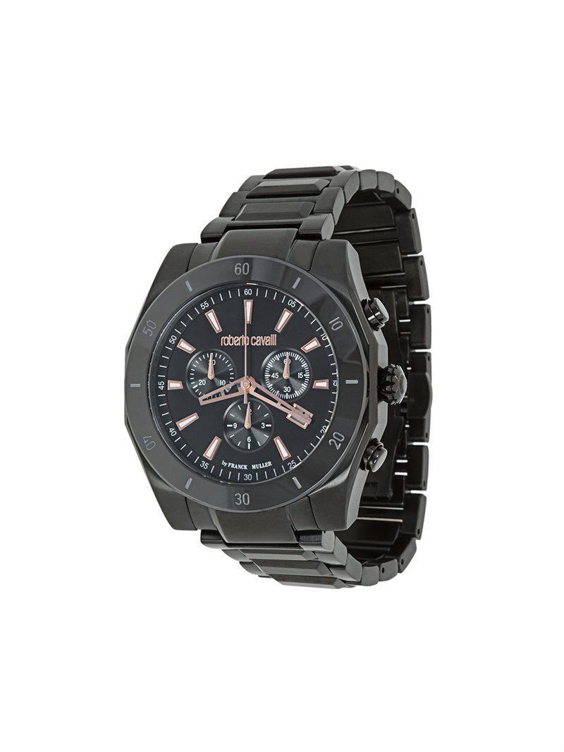 e4f40014959d Lyst - Reloj cronógrafo Franck Muller Roberto Cavalli de hombre de ...