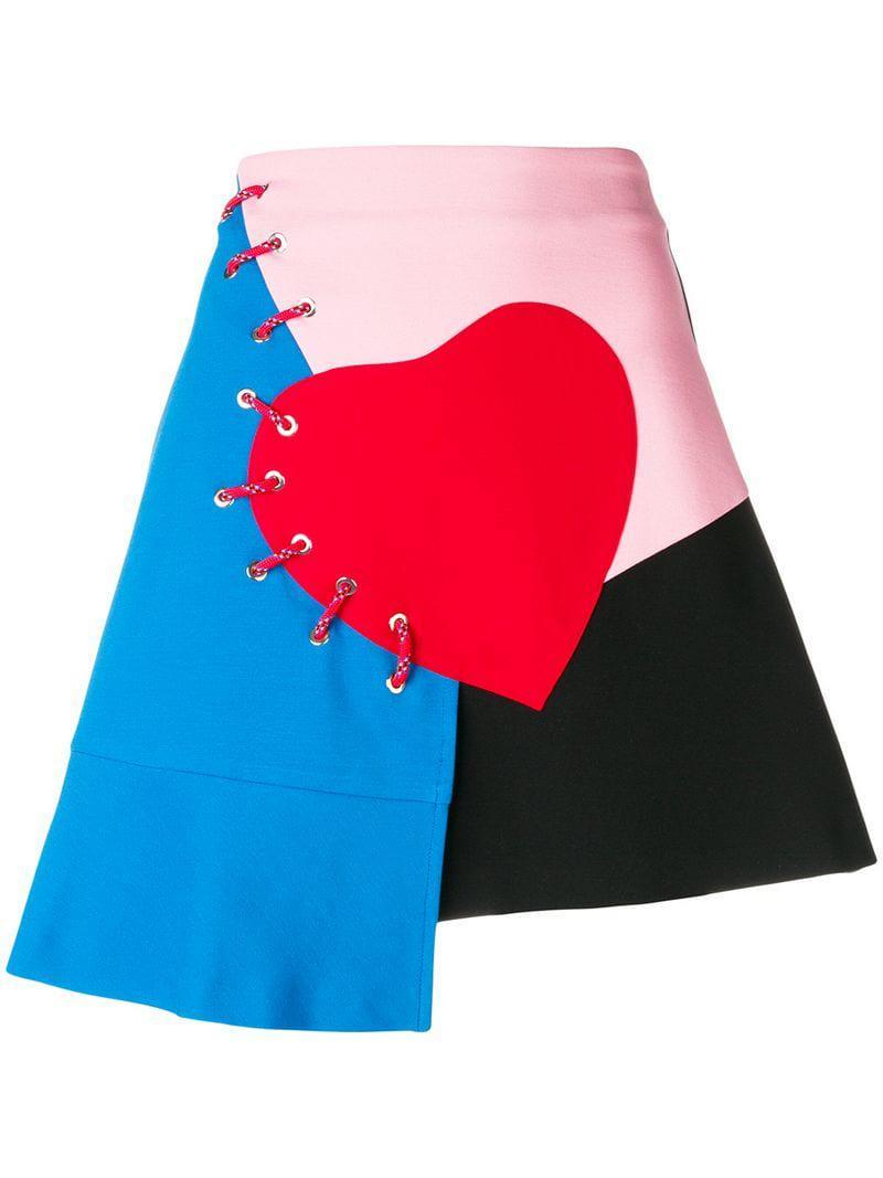 a653ef1a3e Vivetta Patchwork Mini Skirt in Black - Lyst