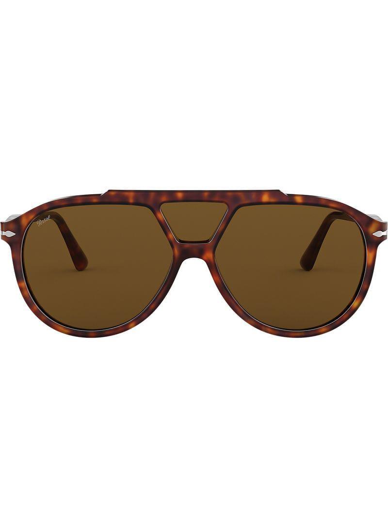 d24b5632cab2f Persol Aviator Sunglasses in Brown for Men - Lyst