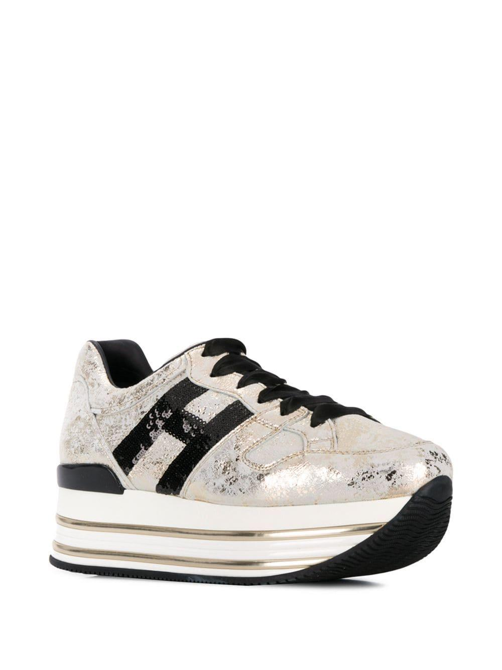 timeless design 3ce3d 8dfed Lyst - Hogan Maxi H222 Sneakers in Metallic