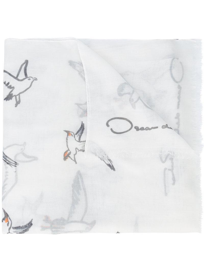 jungle print twill scarf - White Oscar De La Renta 2vhq7H