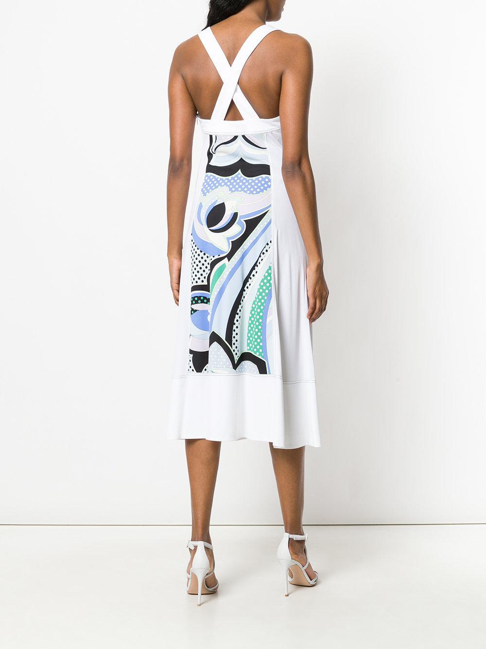 embellished printed-panel midi dress - Multicolour Emilio Pucci 9WdfjbKD