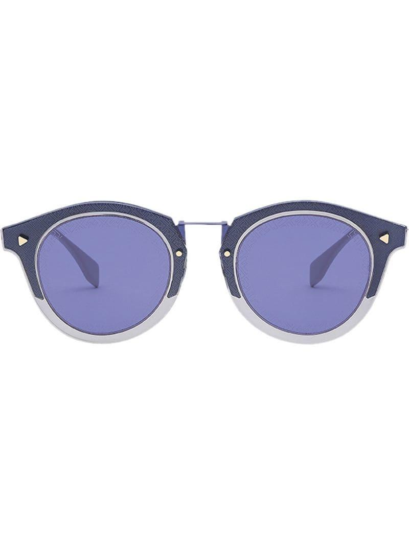 0bf765d6b6 Lyst - Fendi Ff Rounded Sunglasses in Blue for Men