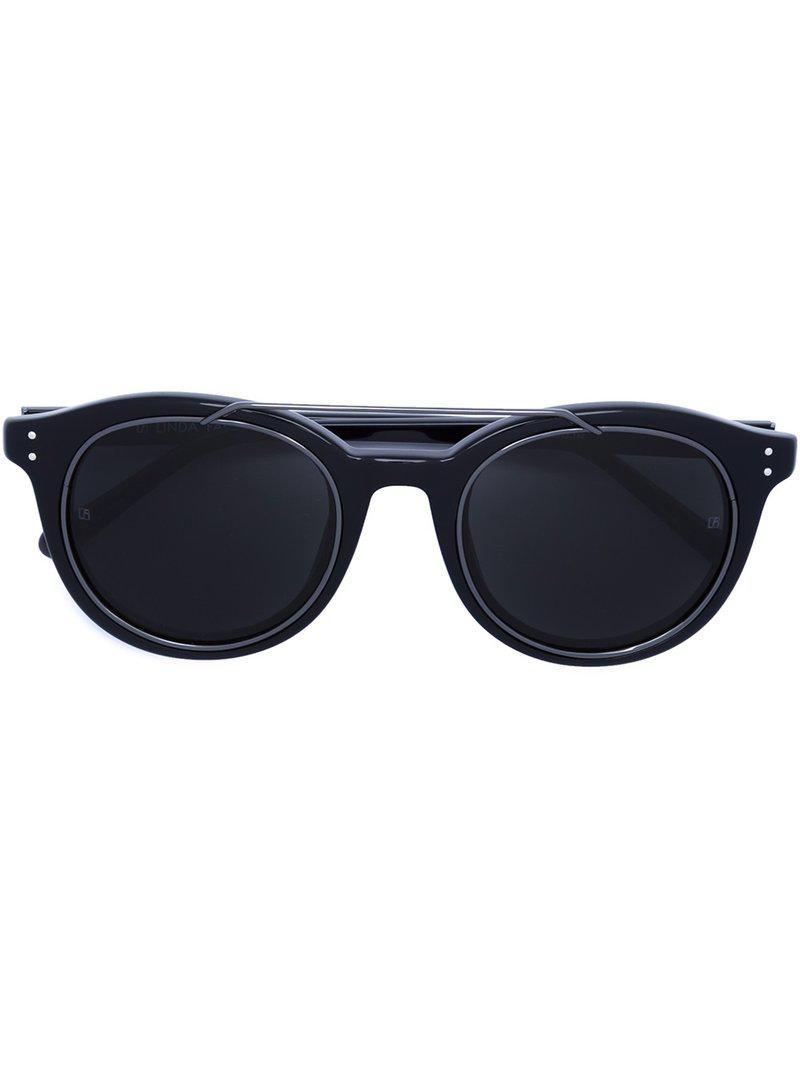 Lyst - Gafas de sol de acetato Linda Farrow de color Negro a9c86f5aa4e8