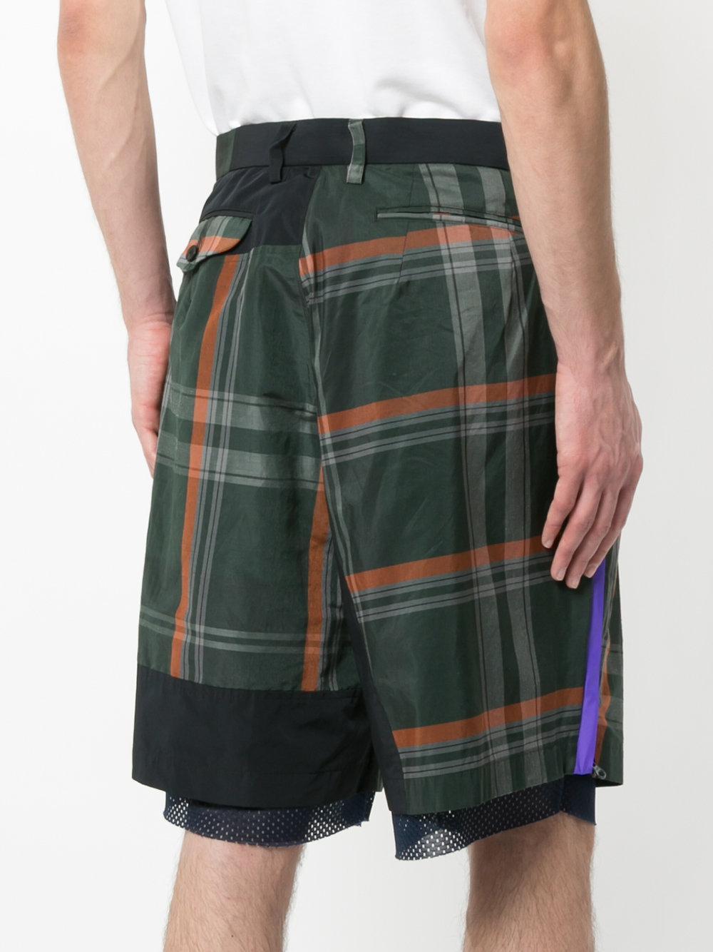 mesh tartan shorts - Multicolour Kolor QlkR7