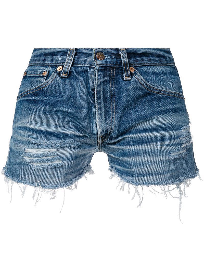0bf08bdc0a Lyst - Chiara Ferragni Wink Denim Shorts in Blue