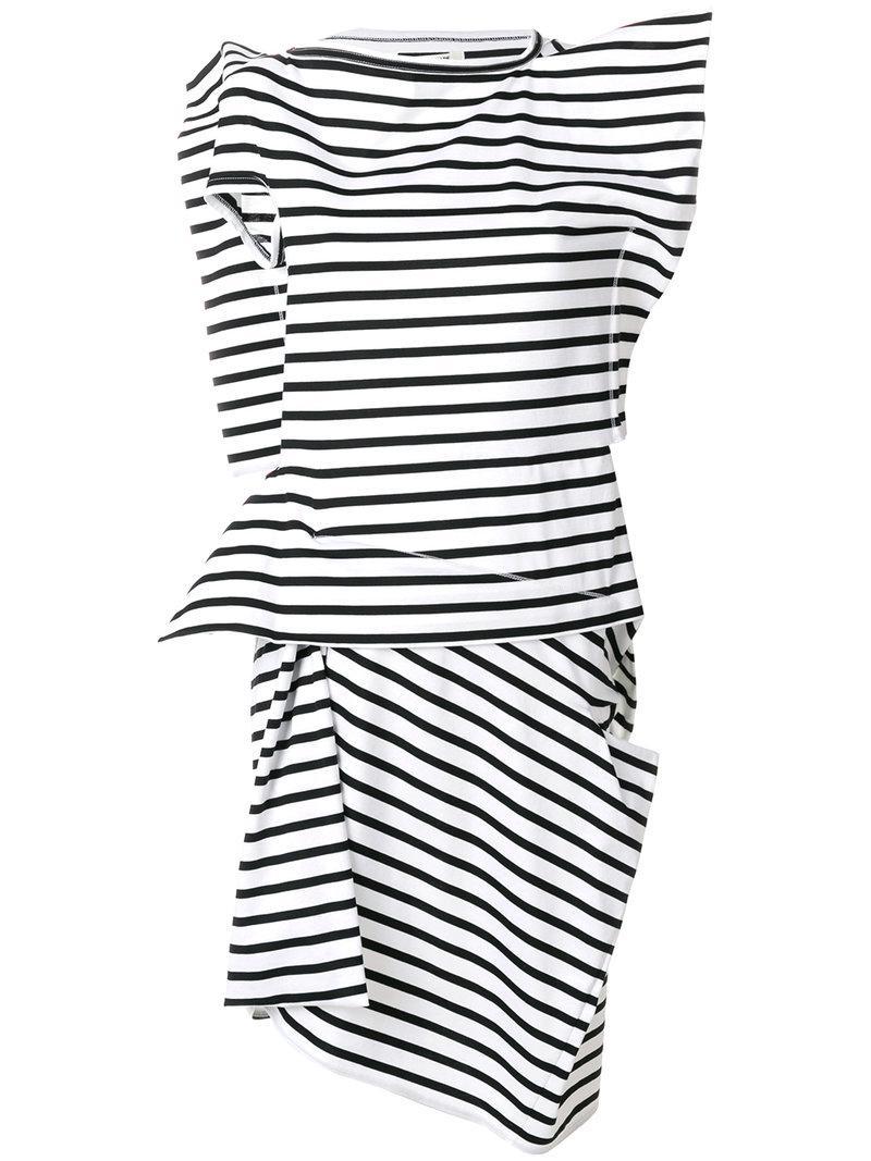 On Hot Sale Wholesale Quality Junya Watanabe asymmetric striped dress wdkWQGhw