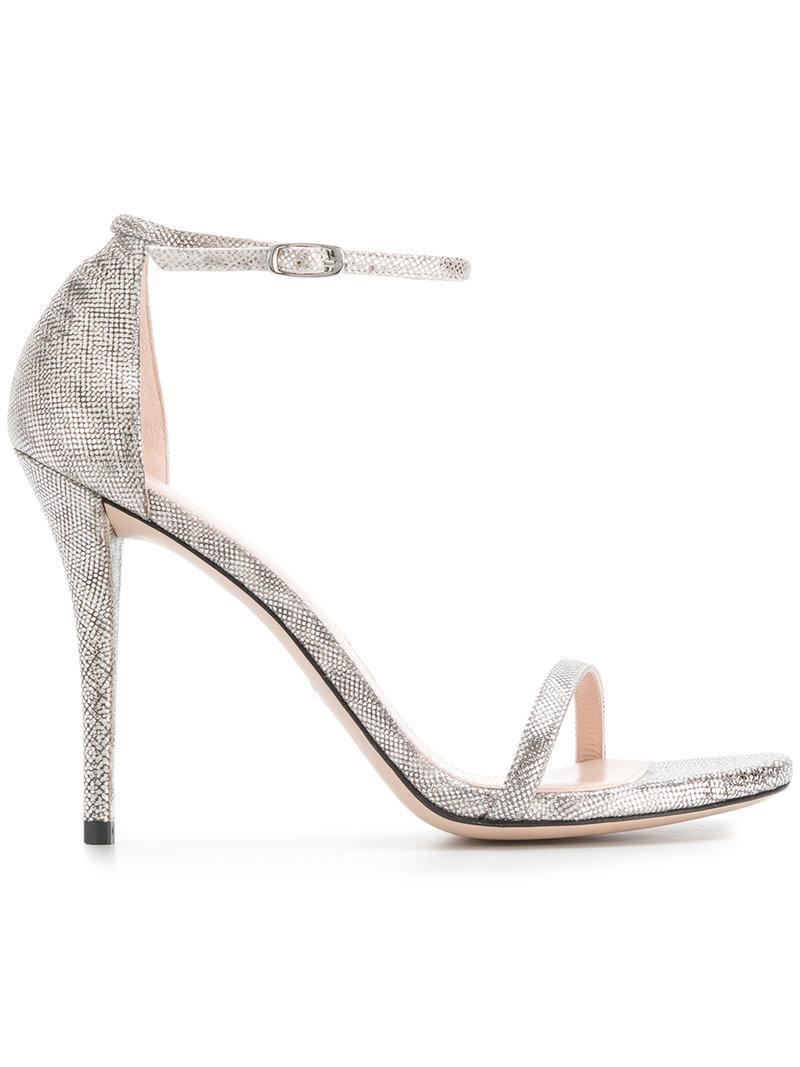 Stuart Weitzman Textured sandals Websites Discounts Cheap Sale Best Place Store Sale Online fe74BDw