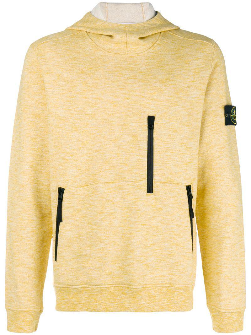 8a92e373 Lyst - Stone Island Multi-zip Hoodie in Yellow for Men