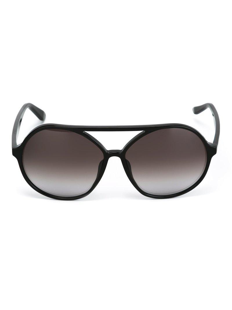 Valentino Eyewear Garavani Round Frame Sunglasses in Black - Save 19 ...