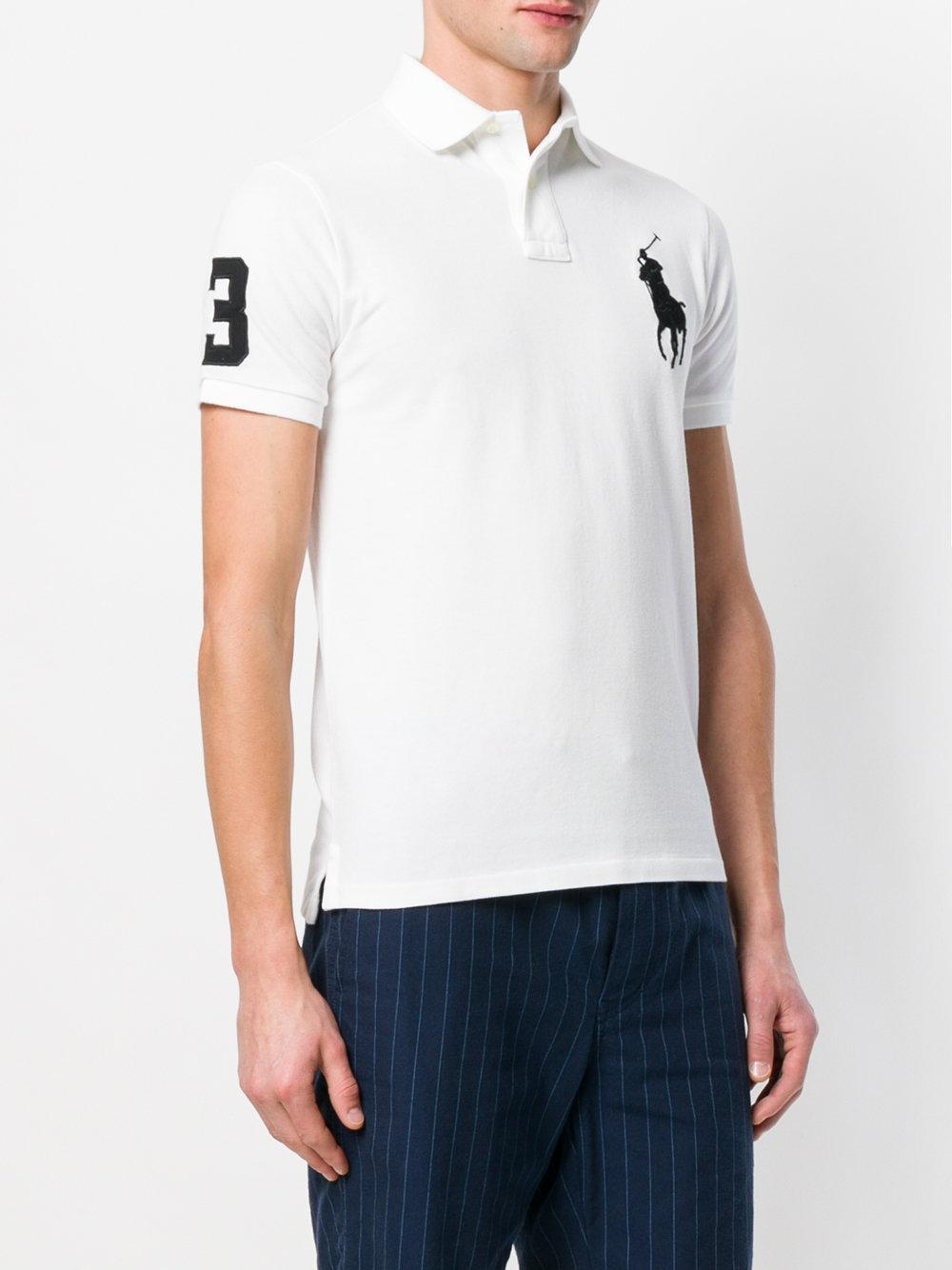 be422ba3 Polo Ralph Lauren - White Embroidered Big Pony Polo Shirt for Men - Lyst.  View fullscreen