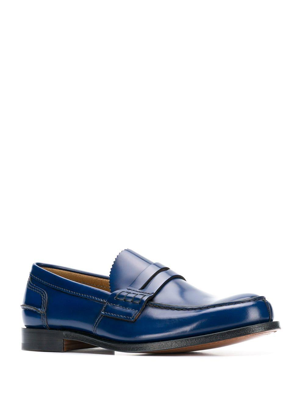 312373af98d Lyst - Church s Tunbridge Penny Loafers in Blue for Men