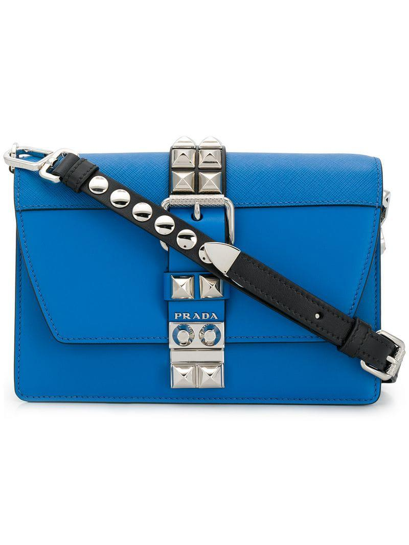 0914236bd5f7 Prada - Blue Electra Medium Bag - Lyst. View fullscreen