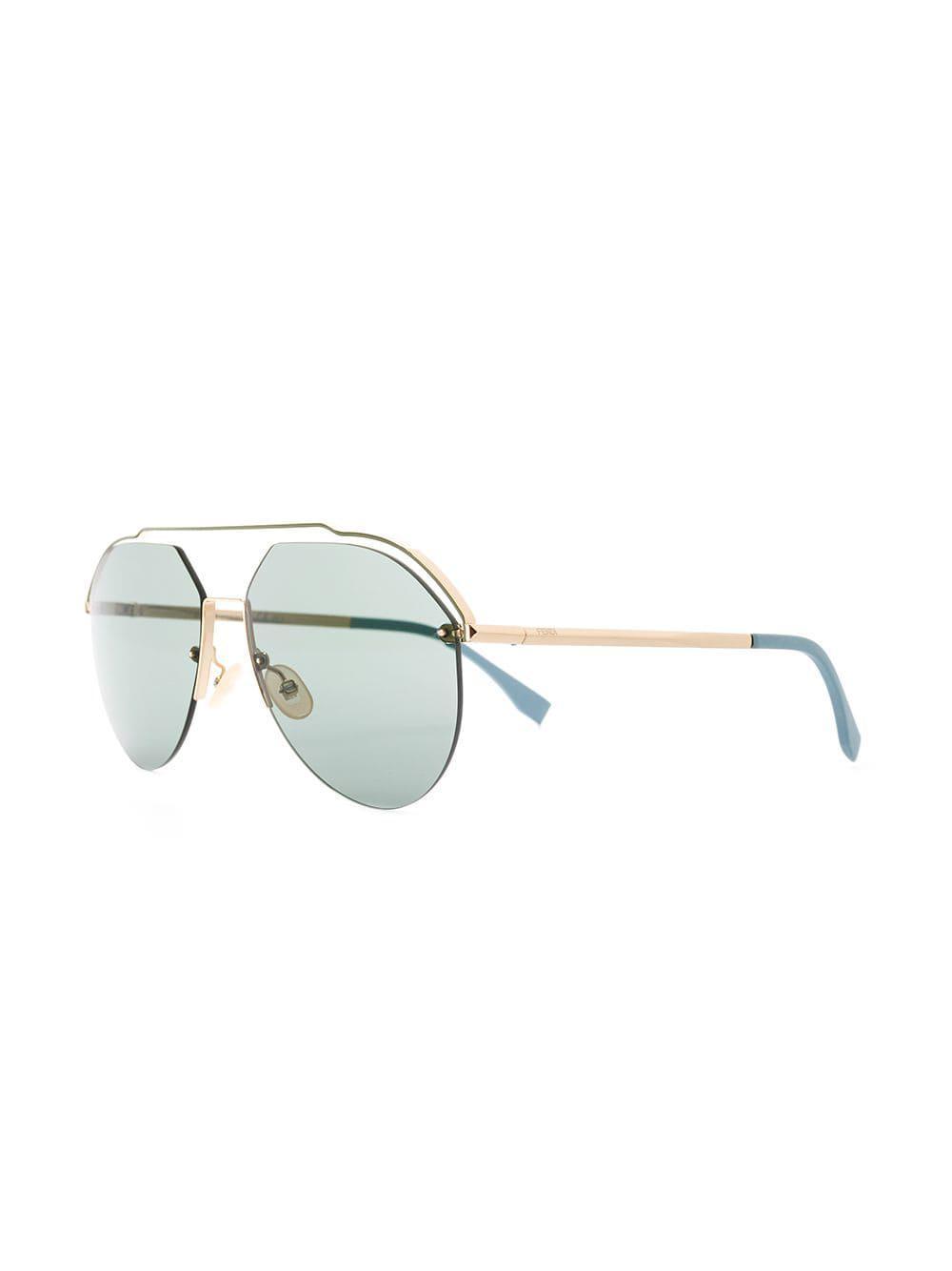 a704f9d2a4 Fendi Aviator Sunglasses in Blue for Men - Lyst