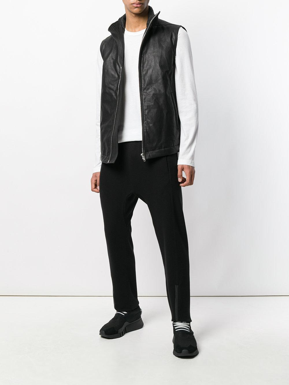 4c4ec622b7cfc Lyst - Rick Owens Asymmetric Sleeveless Leather Jacket in Black for Men