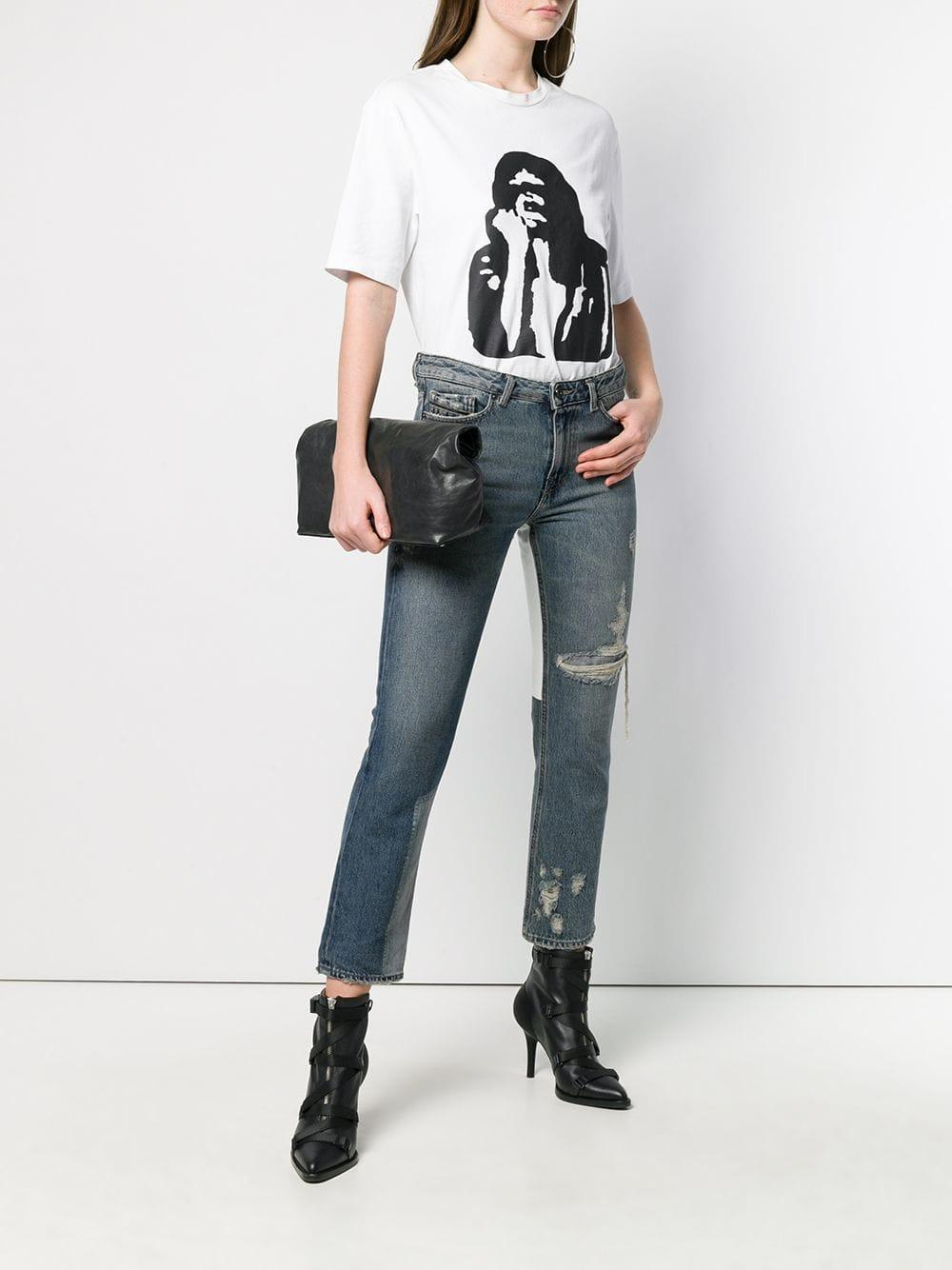 dbef0ce61f1 Diesel Black Gold - Blue Straight Jeans With Bleached Patch - Lyst. View  fullscreen