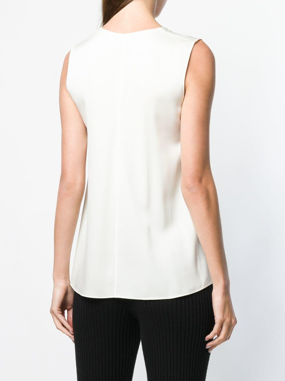 37020d75a9197 Theory - White A-line V-neck Top - Lyst. View fullscreen