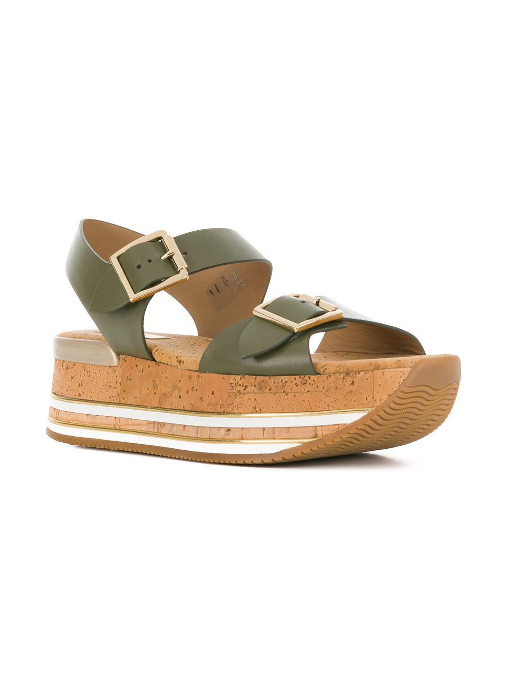 chunky heel sandals - Green Hogan uzeVdpdRlM