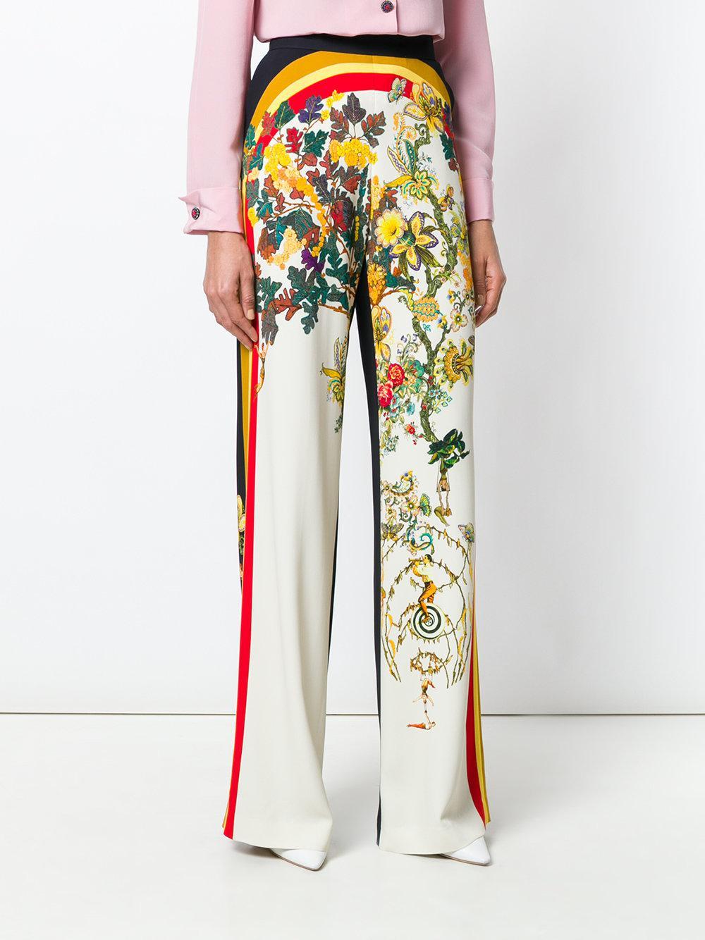 floral print wide-leg trousers - Multicolour Etro yhlDZk6n1Z