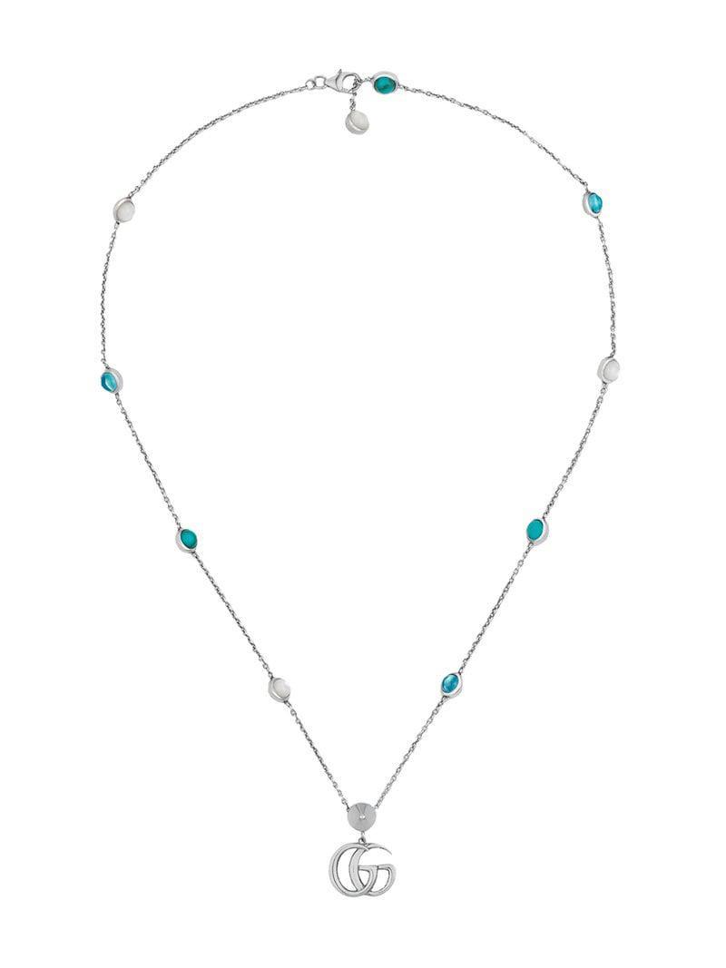 f35c0c44744b Collar con colgante Doble G Gucci de color Metálico - Lyst