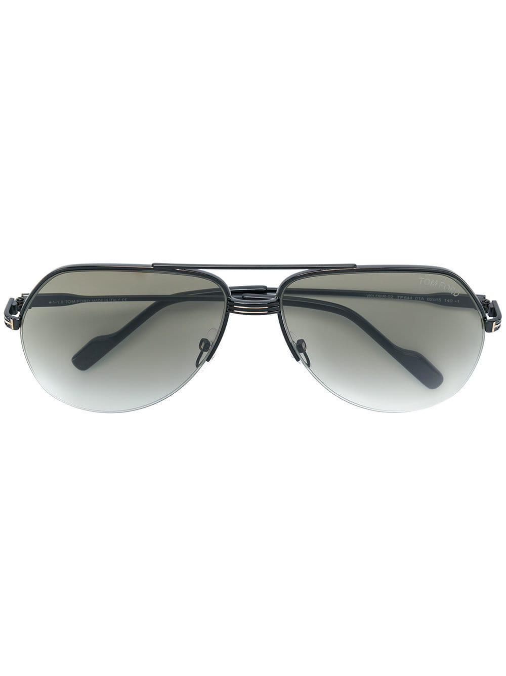 ef04c5ddf38dd2 Lyst - Lunettes de soleil à monture aviateur Tom Ford pour homme en ...