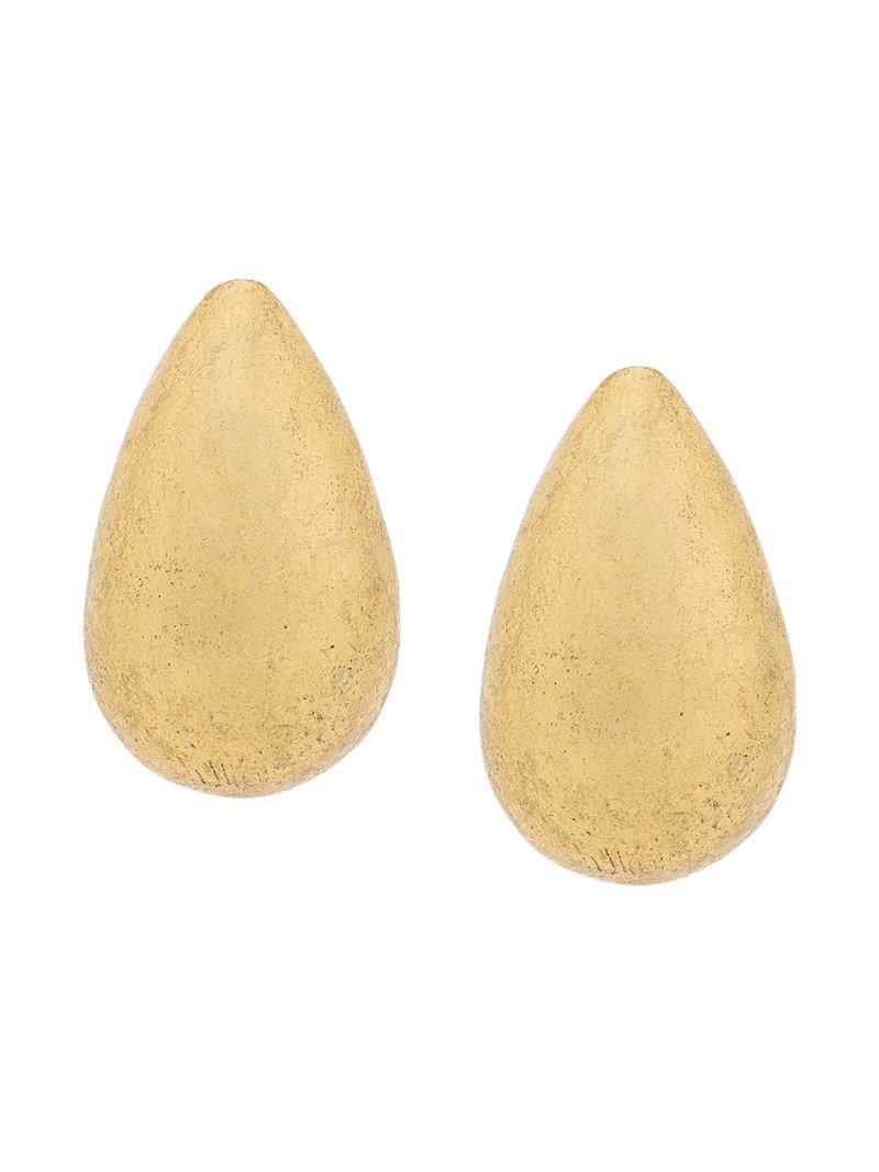 Monies oversized claw clip-on earrings - Metallic eladWDVuj