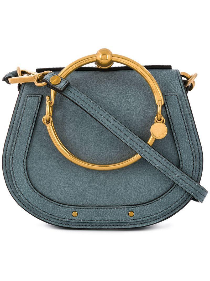 5ae76cb94050 Lyst - Chloé Small Nile Bracelet Bag in Blue