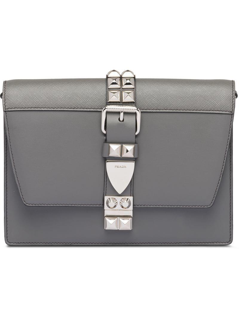 8f4bbdacd935 Lyst - Prada Elektra Shoulder Bag in Gray - Save 12.468085106382972%