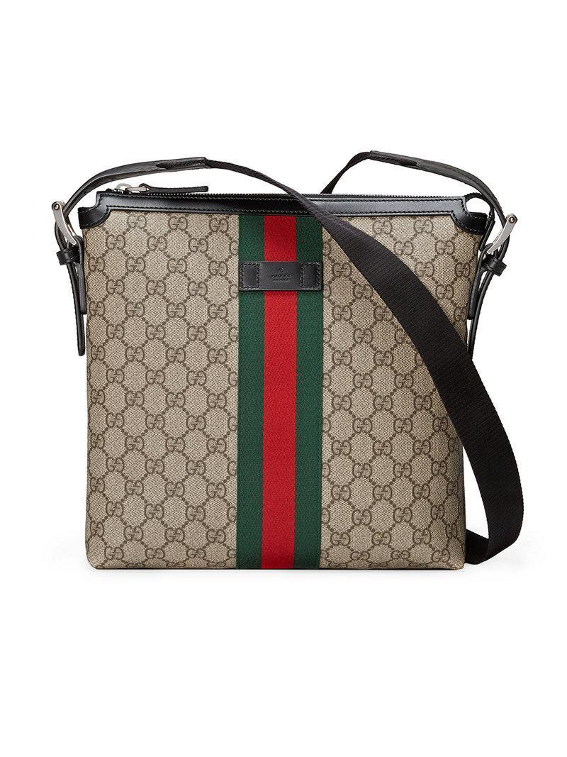3edd2c65719 Lyst - Sacoche GG Supreme Gucci pour homme en coloris Marron