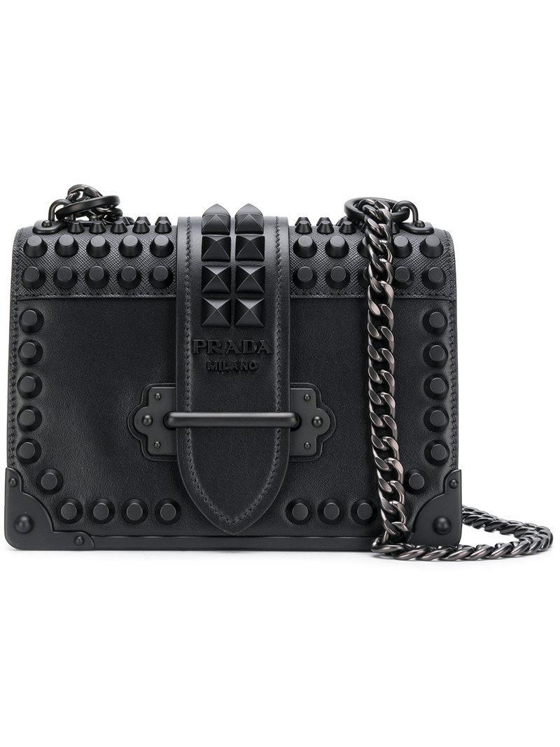 151a34a7eec9 Prada - Black Cahier Shoulder Bag - Lyst. View fullscreen