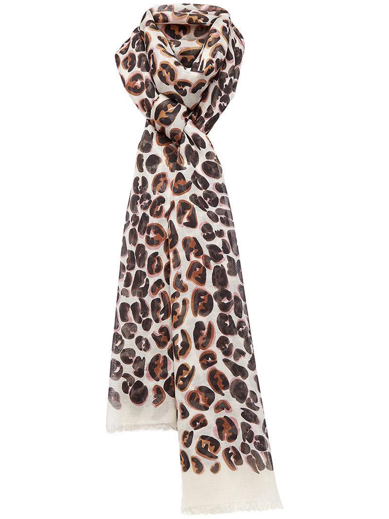 splash FF maxi stole scarf - White Fendi bG94ObBcA