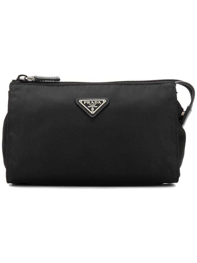 b47df977c5f2 Prada - Black Makeup Bag for Men - Lyst. View fullscreen