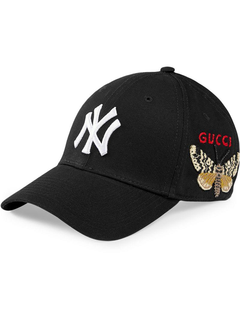 Gucci - Black Baseball Cap With Ny Yankeestm Patch for Men - Lyst. View  fullscreen 5244418aebe8