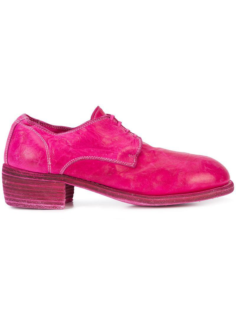 lace-up oxford shoes - Pink & Purple Guidi 11Bx8qs0C