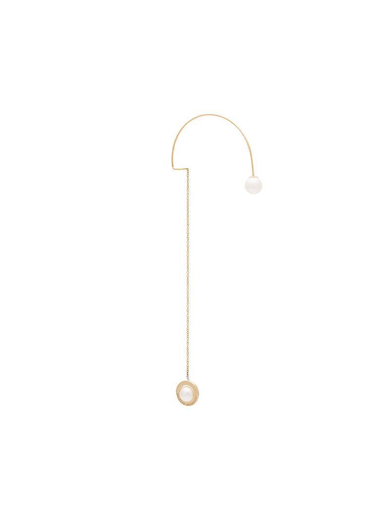 18kt gold Fishing For Compliments pearl earring - Metallic Delfina Delettrez AxZjn