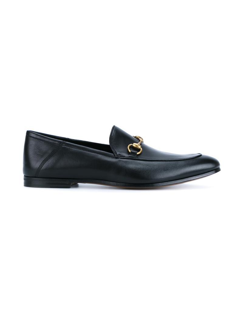 a4dd536071f Gucci  jordaan  Horsebit Leather Loafers in Black for Men - Lyst