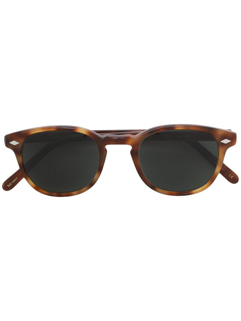 Free Shipping Enjoy Lesca tortoiseshell-effect sunglasses Outlet The Cheapest hyqV0HC8T