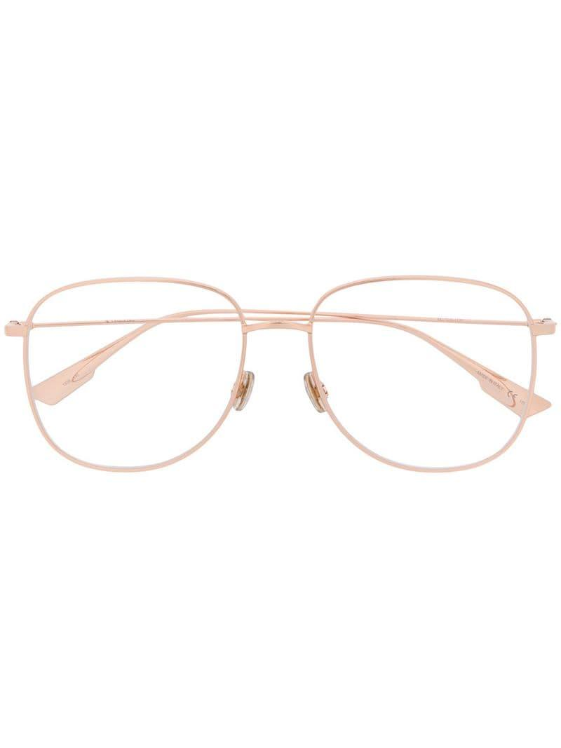 fa30423405 Lyst - Dior Round Frame Glasses in Metallic
