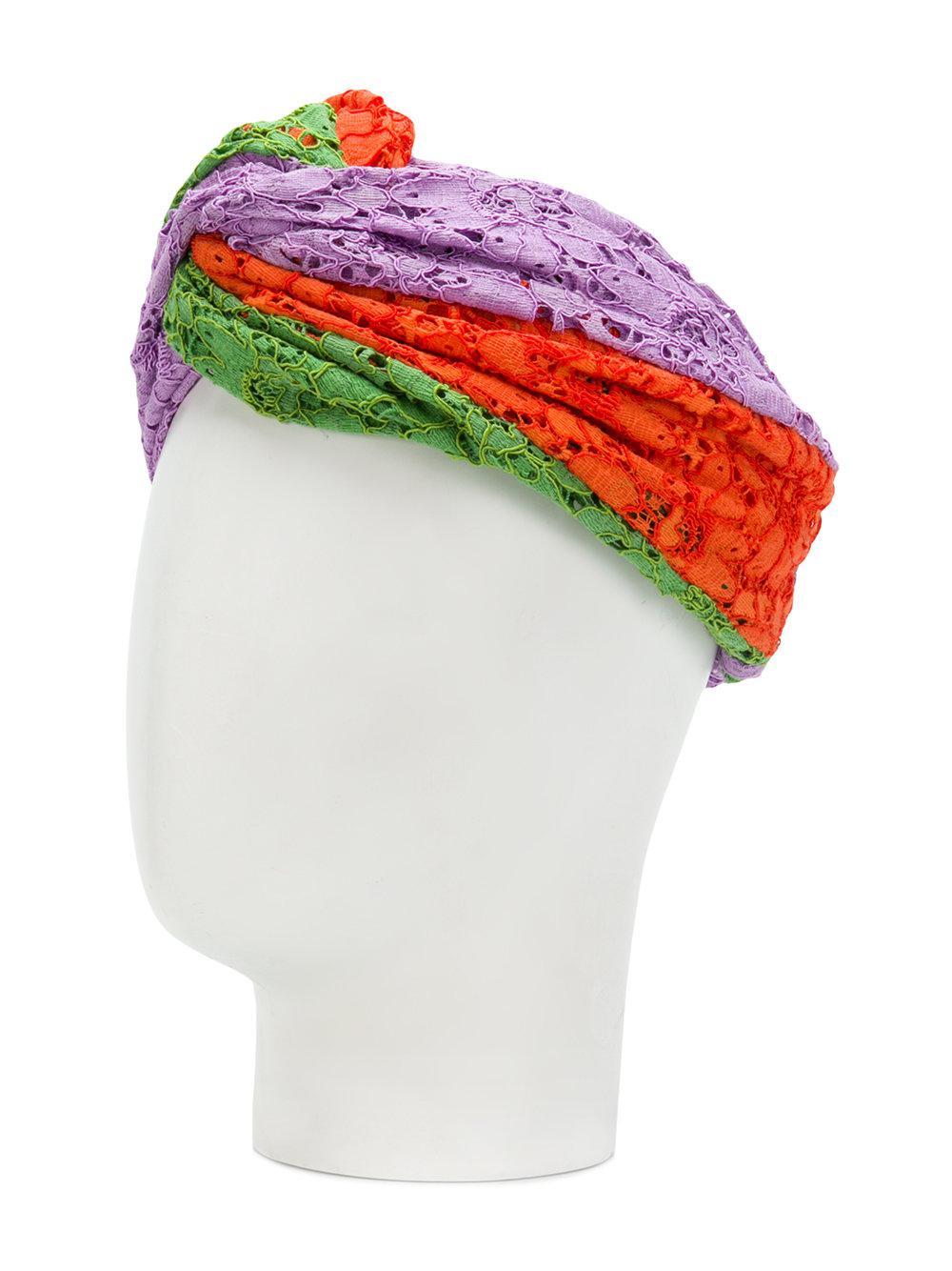 428403aeb6c Lyst - Gucci Multi-tonal Floral Hairband