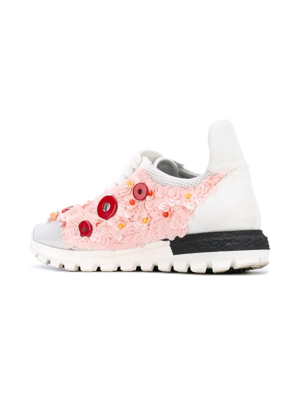 No Ka  oi - White Button Embellished Sneakers - Lyst. View fullscreen e80b75100