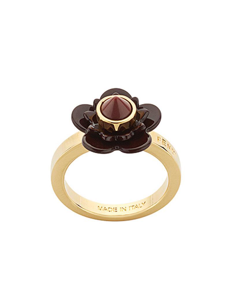 Fendi Flowerland ring - Metallic wYnfNQOvN