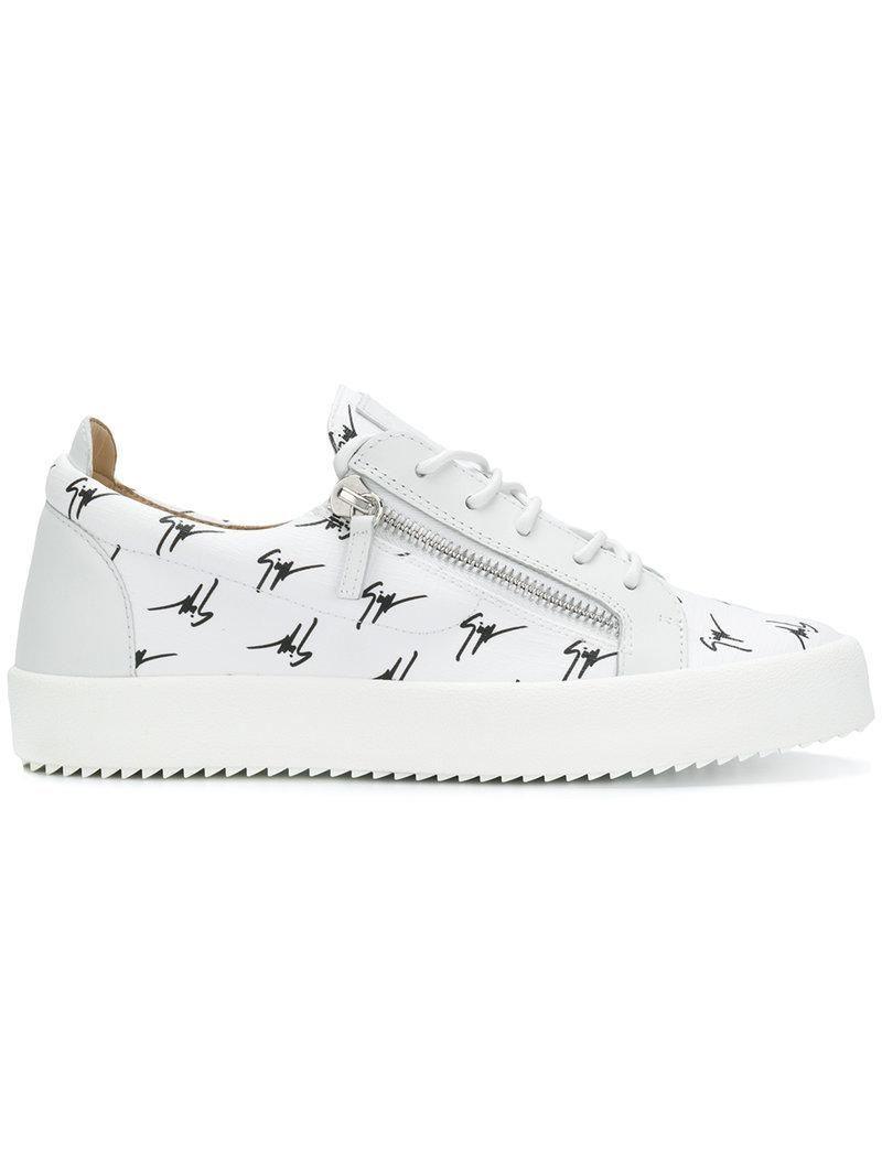 The Signature hi-top sneakers - White Giuseppe Zanotti aSLLLuL