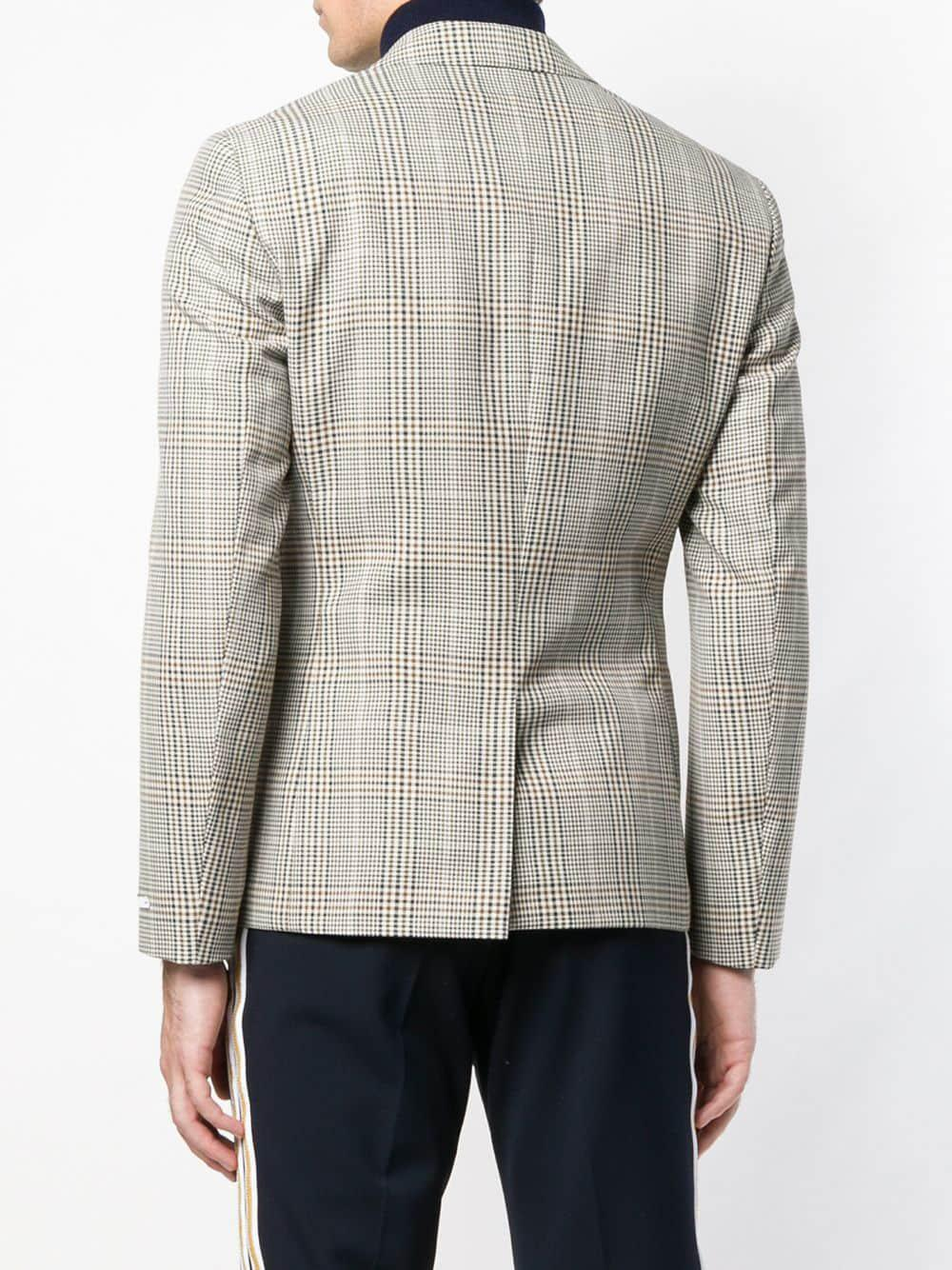 f5992a8af14 Calvin Klein Tartan Pattern Blazer in Gray for Men - Lyst