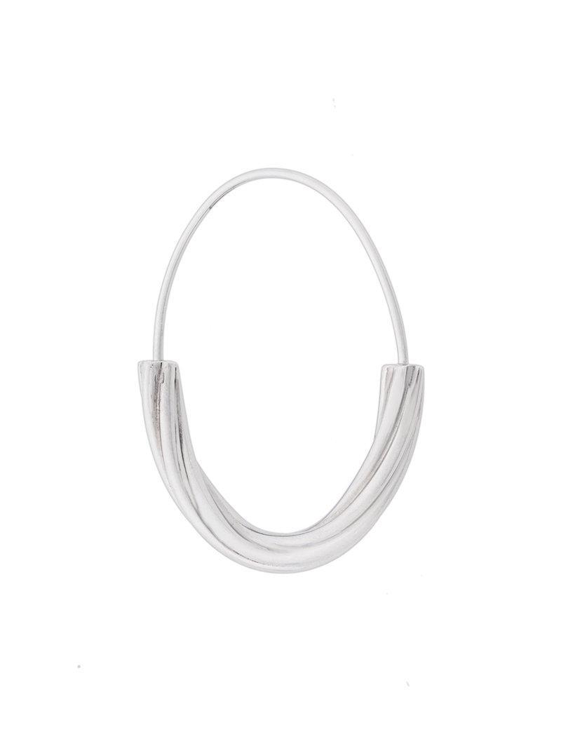 Maria Black Tove medium hoop earring - Metallic Kd3KbpeGqE